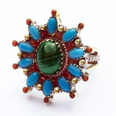 Native American Morning Star storytelling ring based on the Anishinaabe Seven Grandfather teachings