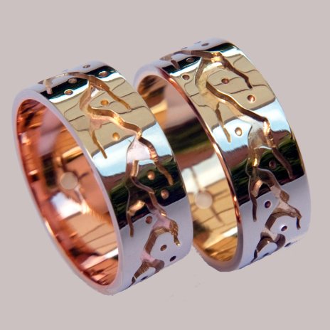 Native American Anishinaabe wedding rings collection Wisdom