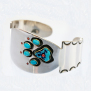 Native American Wolf footprint cuff bracelet