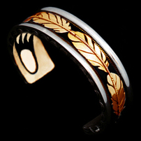 My Spirit within gold and silver cuff bracelet