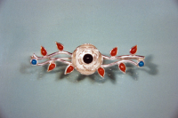 Native American silver rose brooch