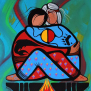 Same Thought an Ojibwe clan love story in paint by Simone McLeod