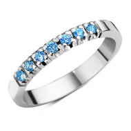 Platinum eternity ring Spiriti del Cielo
