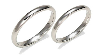 Platinum wedding rings by Fisher Star Creations/Purezza del Platino
