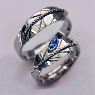 Native American silver eagle feather wedding rings Manidoo Waabiwin