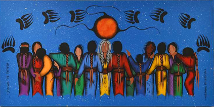 Simone McLeod acrylic on canvas Healing All Nations