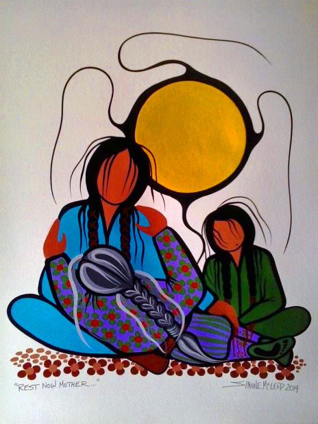 Rest Now Mother painting by Simone McLeod
