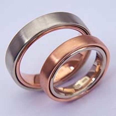 Two-in-one wedding bands