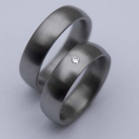 Native American titanium diamond wedding rings North Star