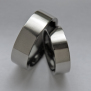 Native American Ojibwe zirconium wedding rings Oshki-Giizis