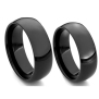 Native American Ojibwe black zirconium wedding rings Black Moon