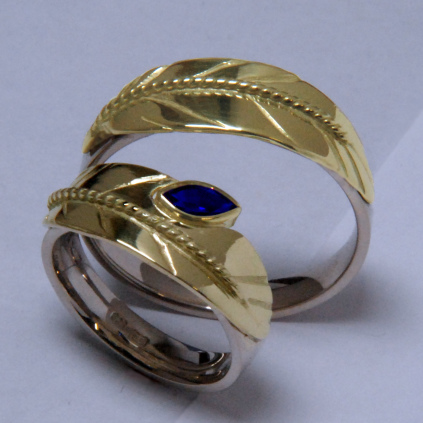 Mystic eagle feather rings by ZhaawanArt