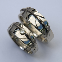 Prayer To The North Native American wedding rings