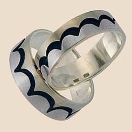 Wedding bands Ojibwe graphic design Tidal Waves