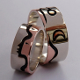 Ojibwe Wedding bands The Loving Earth