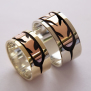 Native American wedding bands Sun Flight