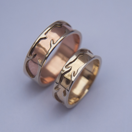 Native American wedding ring set Courage And Vision