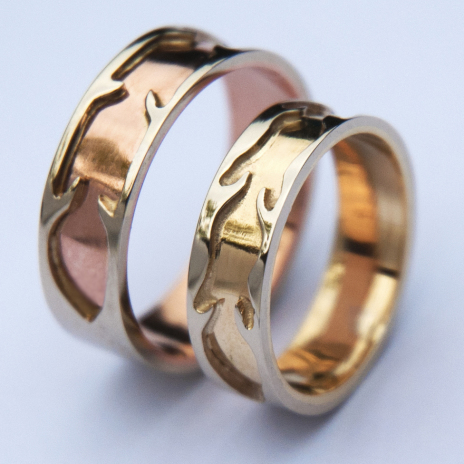 Native American wedding rings Courage and Vision