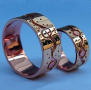 Ojibwe Anishinaabe graphic overlay wedding rings A River Flows through Our Hearts