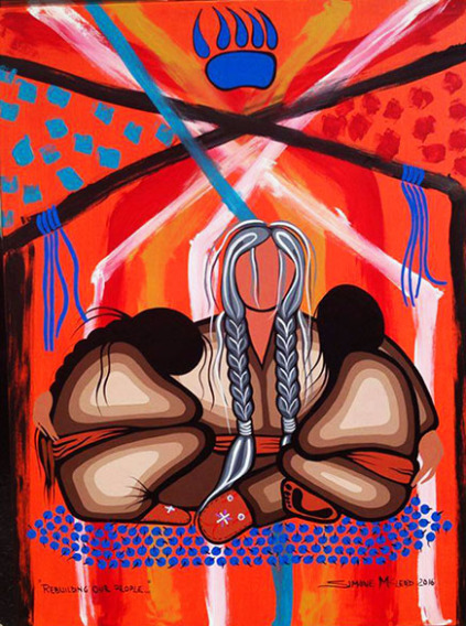 Rebuilding our People acrylic on canvas by Simone McLeod