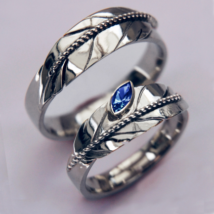 Manidoowaabiwin sterling silver eagle feather rings