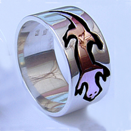 Nigig otter totem clan ring