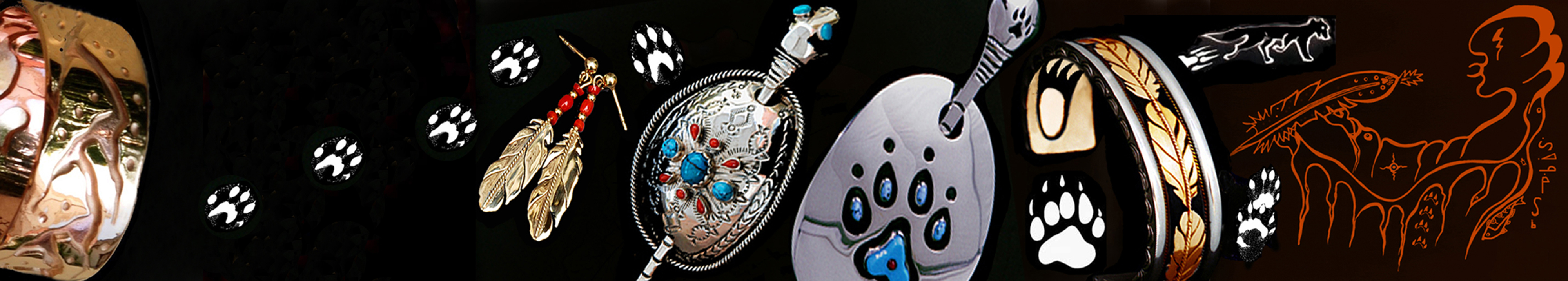 Fisher star Creations doodem clan jewelry image