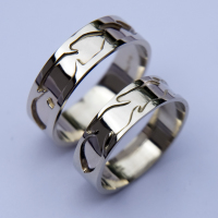 Hawk & Bald Eagle clan wedding rings
