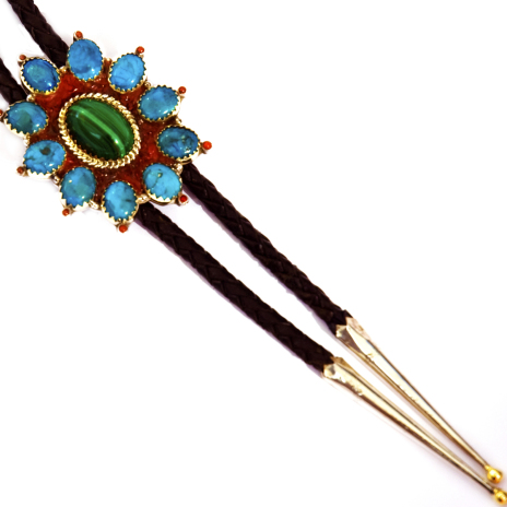 Evening Star bolo tie close up