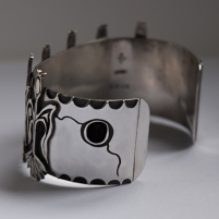 Ojibwe corn bracelet, left side