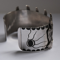 Right side of the Ojibwe corn bracelet