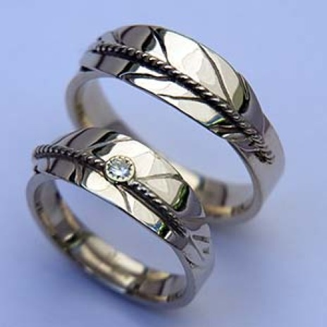 Ojibwe eagle feather diamond wedding rings Prayer to the North