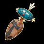 Naawayi'ii Aki Miinawaa Giizhig (Between Earth And Sky) Ojibway-style necklace