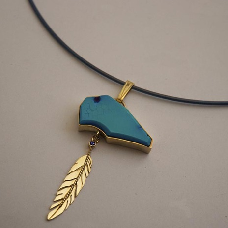 Native American bear fetish necklace Round Dance of the Sky Bear People