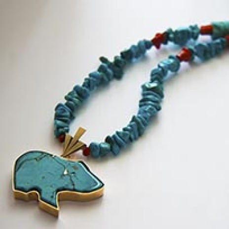 Dream of the spirit Berries Native American inspired necklace