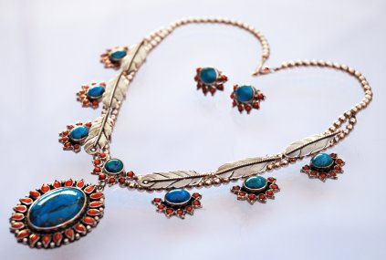 Seven Fires necklace and earrings set