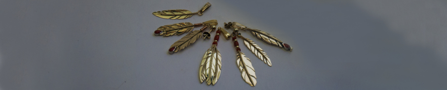 Anishinaabe-inspired eagle feather jewelry by ZhaawanArt Fisher Star Creations