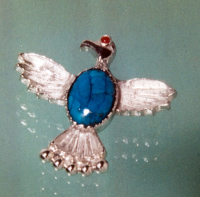 Native American hawk brooch