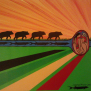Journey to Waabanaki acrylic canvas by Simone McLeod