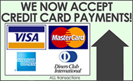 Fisherstar Creations accepts all credit cards