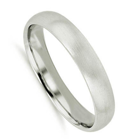 Brushed platinum men's ring Brina della Mattina