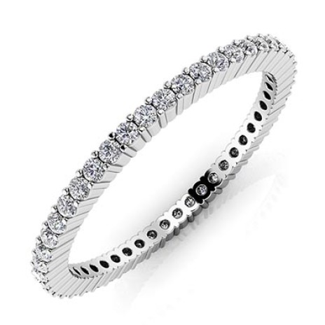 Platinum eternity ring La Danza del Diamanti