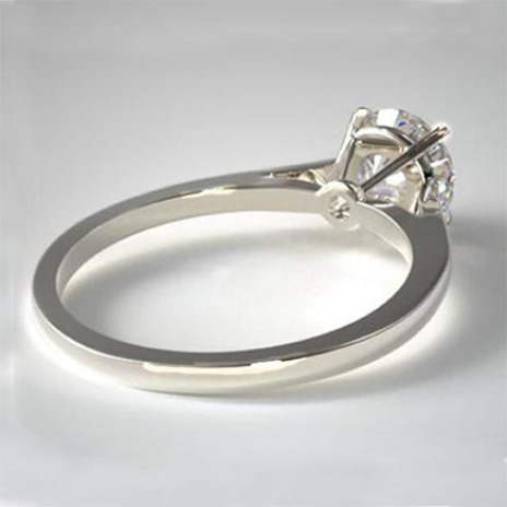 Solitaire platina ring met 1 ct diamant La Donna