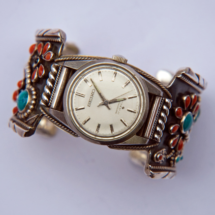 Bimaabiig Aadizookaan Native American cuff wristwatch band