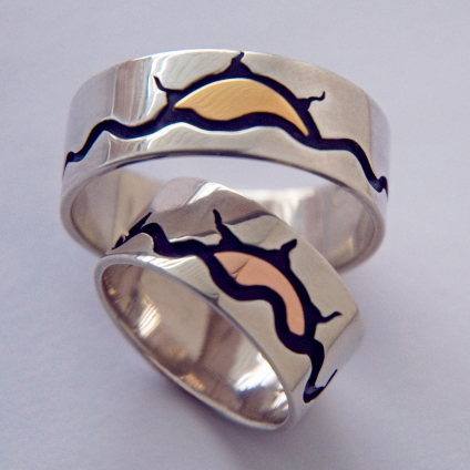Anishinaabe wedding bands Gichigamiing nagamawin manidoo-nagamon