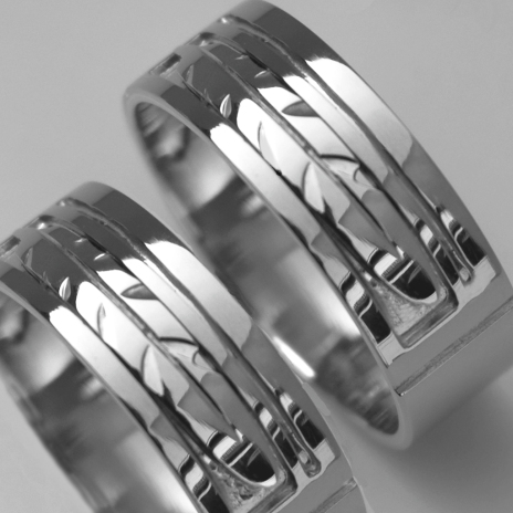 Native American silver eagle feather wedding rings titled Circle of Flight