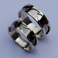 Native American inspired sterling silver wedding rings Spiritual Perception