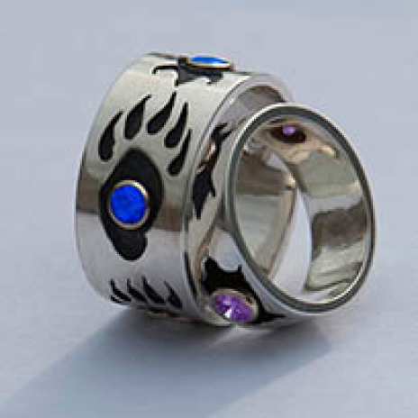 Native American wedding rings Animal Clan Spirits