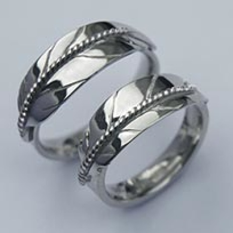 Native American inspired eagle feather wedding rings Sky Reacher Spirit