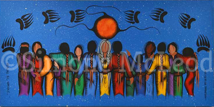 Healing All Nations canvas copyright Simone McLeod